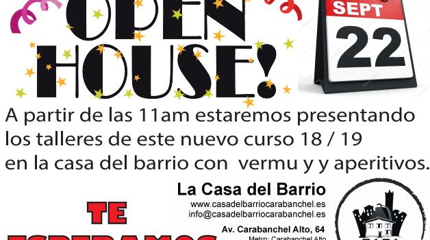Sábado 22, Presentación de los talleres de la casa