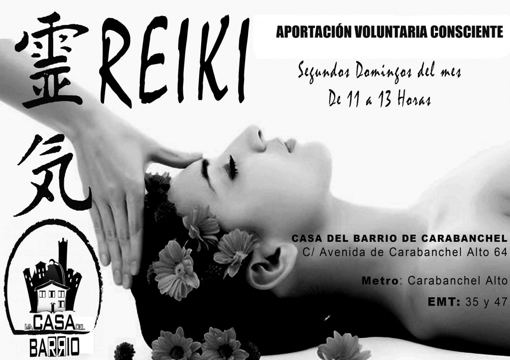 Cartel reiki VOLUNTARIA