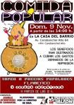 cartel comida popular