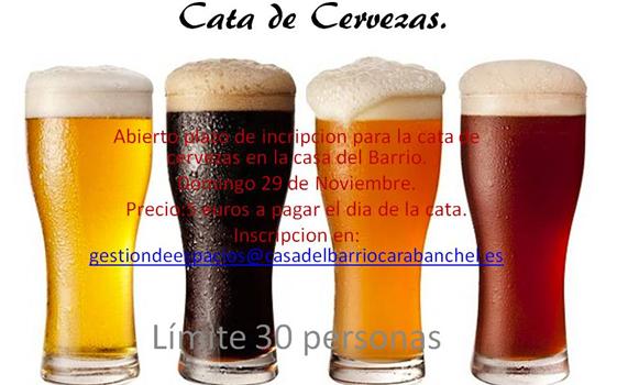 Cata de cervezas. Domingo 29 de Noviembre 12:00