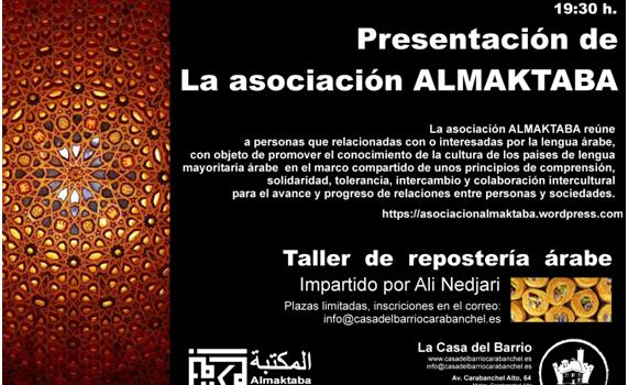 Presentación de asociación ALMAKTABA. Viernes 18 de Marzo 19:30