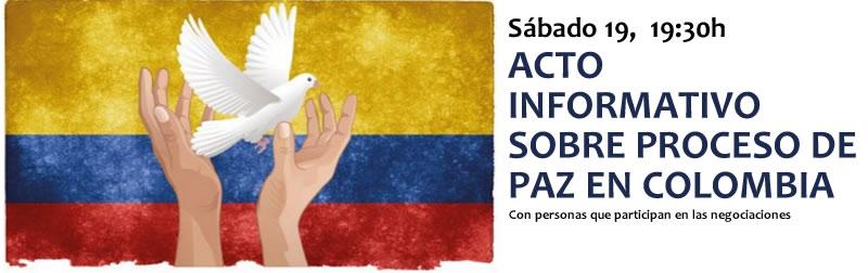 Acto informativo sobre proceso de paz en Colombia