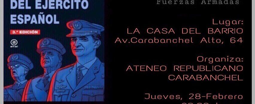 Jueves 28, 20:00, Presentación: El libro negro del ejército español