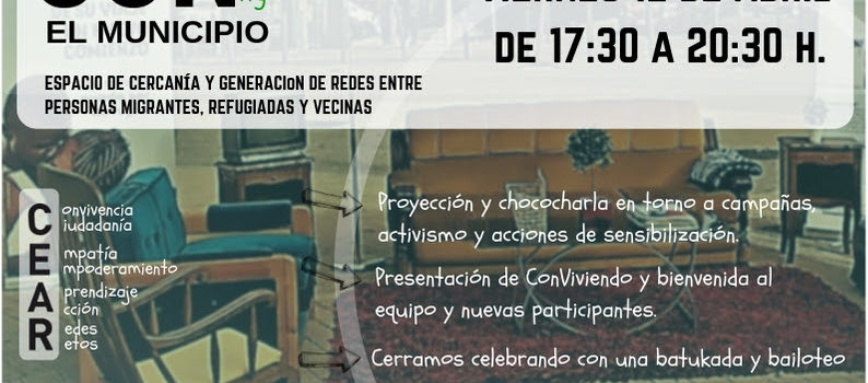 Viernes, 17:30h Jornada de Bienvenida proyecto: Conviviendo el Municipio