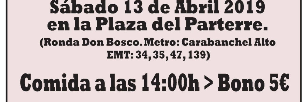 Sábado 13, 14:00h Cocido Republicano (en plaza del Parterre)