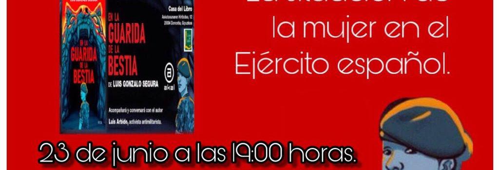 """Domingo 23, 19:00h Presentación del libro: """"En la Guarida de la Bestia"""" de Luis Gonzalo Segura."""