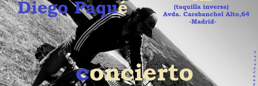 Sábado 28, 21:00h Concierto: Diego Paqué