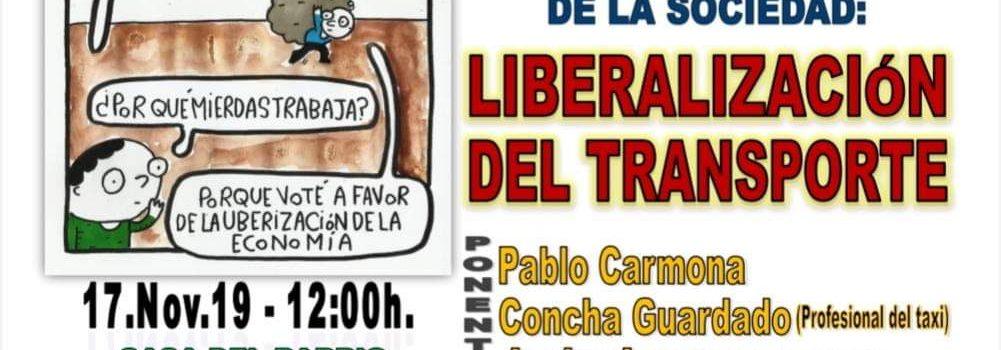 Domingo 17, 12h, Charla Uberización