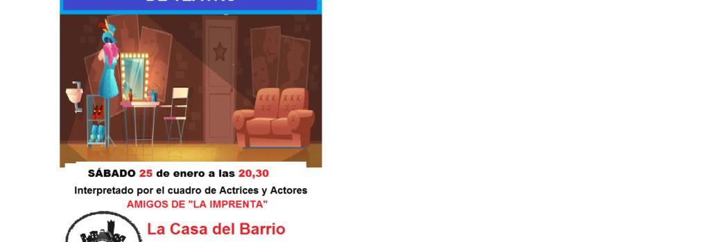Sábado 25, 20.30h, Lecturas escenificadas de teatro