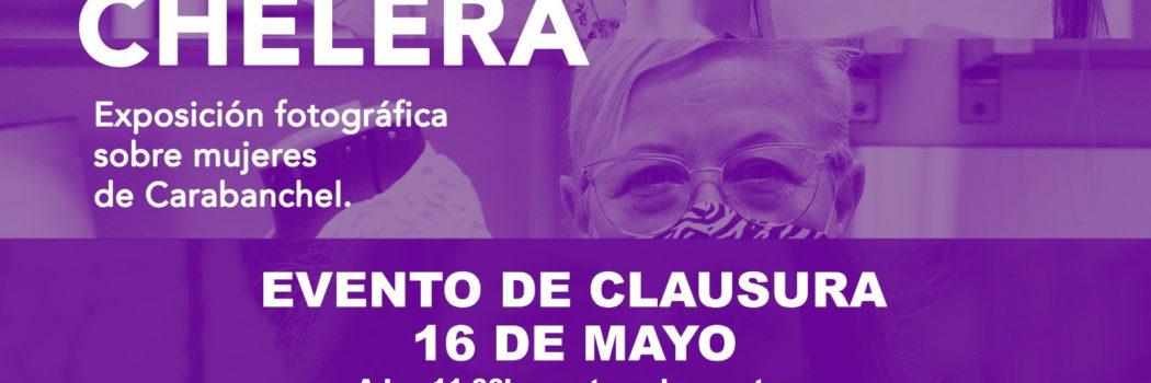 """Domingo 16, 11:00h Evento de clausura: Exposición fotográfica """"Soy Carabanchelera""""."""